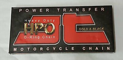 AU36.34 • Buy Motorcycle Chain JT 428 X 118 Links O Ring Gold & Black HPO
