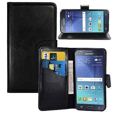 £3.66 • Buy NEW BLACK WALLET LEATHER GEL CASE WITH CARD SLOT FOR Samsung Galaxy J1 ACE UK