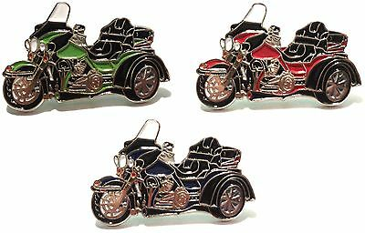 Trike 3 Wheeled Bike Biker Motorcycle Motorbike Metal Rocker Enamel Badge Set • 4.99£