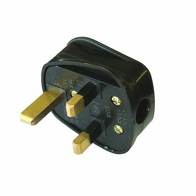 Uk 13a Black Mains Plug 13 Amp 3 Pin Appliance Fuse Power Adaptor • 28.99£