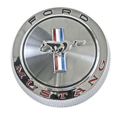 $49.99 • Buy NEW 1966 Ford Mustang Gas Cap Chrome Twist On With Cable  Free Shipping