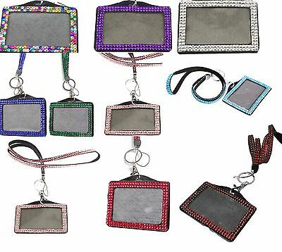 LANYARD NECK AND ID BADGE LANDSCAPE GEMS HOLDER FOR PHOTO ID CARDS Horizontal • 2.99£
