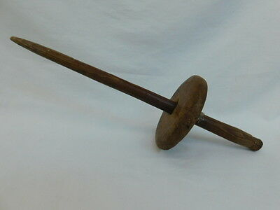ANTIQUE WOODEN YARN WINDER DROP SPINDLE PRIMITIVE RUSTIC Cir 1900 SPINNING WHEEL • 35.37£