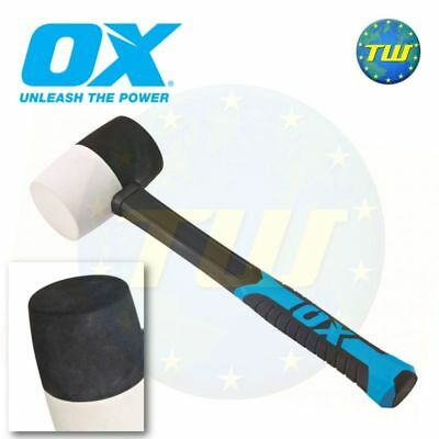 OX Tools 16oz Combination Rubber Mallet White Non Marking Hammer Face T081916 • 11.99£
