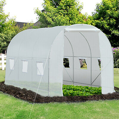 £74.99 • Buy Outsunny 3.5x2x2m Walk-in Greenhouse Polytunnel Galvanized Plants Grow Tent