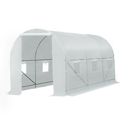 £89.99 • Buy Outsunny 4.5x2x2m Walk-in Greenhouse Polytunnel Galvanized Plants Grow Tent