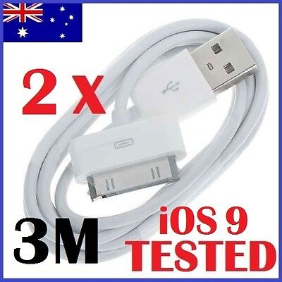 AU4.89 • Buy 3M IPhone 4 4S USB Data Sync Charger Cable For IPad 2 3 IPod Touch Cord (white)