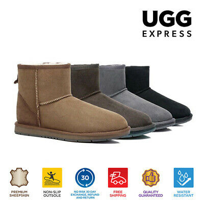 AU89 • Buy 【EXTRA17%OFF】UGG Unisex Boots Sheepskin Mini Classic Ugg Boots Water Resistant