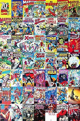 Stunning Marvel Comic Book Collage Canvas Superhero Wall Art Canvas Pictures • 19.99£