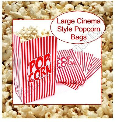 Popcorn Bags Large Paper Carton Box Tub Movie Party Novelty Snack Treat Retro • 2.69£