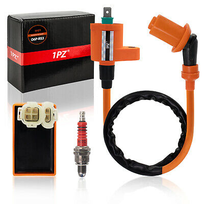Racing 6 Pin CDI+Ignition Coil+Spark Plug For GY6 50cc 125cc 150cc Moped Scooter • 15.29$