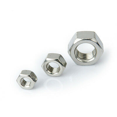 $3.15 • Buy M2 Stainless Steel Fine Pitch Hexagon Full Nuts Hex Nut Assorted