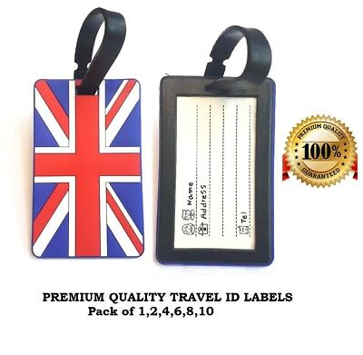 £2.65 • Buy Luggage Tags Plastic Travel Labels Suitcase Bag Baggage Name Address Label X 2
