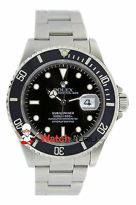 $ CDN10525.01 • Buy Rolex Submariner Date 16610 40mm Black Dial Oyster Perpetual Watch