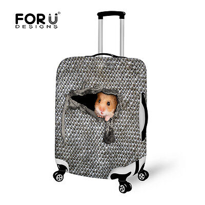 3D Animal Travel Luggage Cover Suitcase Protector Zipper Closure High Stretch  • 17.99£