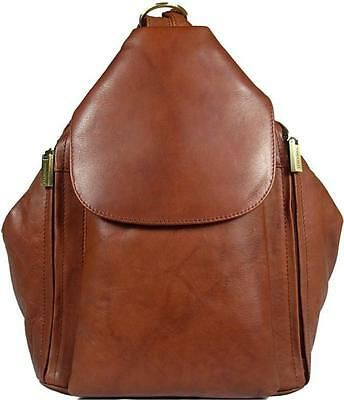 New Girls/ladies Visconti Brown Soft Leather Backpack Bag • 89.99£
