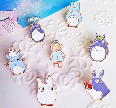 Totoro Anime Enamel Pin Lapel Badge Collection Gift 1pc 7 Designs • 2.99£