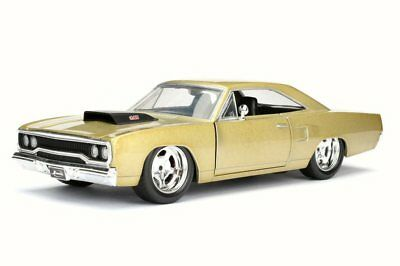 1970 Plymouth Road Runner, Gold - JADA Toys 98243 - 1/24 Scale Diecast Car • 12.05£