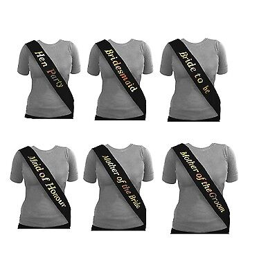 Luxury Hen Night Do Party Sashes Bride To Be Bridesmaid Mother Of Maid Of Sash • 0.99£