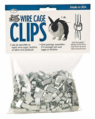PET LODGE WIRE CAGE CLIPS For Assembling/Repairing Wire Cage Hutches 1lb. Bag • 8.41£
