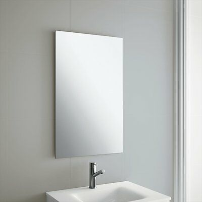 Plain Frameless Bathroom Mirror With Wall Hanging Fixings  • 23.95£