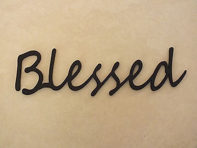 Wooden  Blessed  Plaque Words/Letters Home/Door/Wall Decoration Art/Craft  • 3.99£