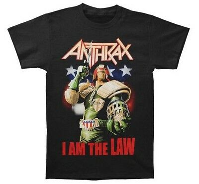 Anthrax JUDGE DREDD I AM THE LAW T-Shirt NEW Heavy Metal Band 100% Authentic • 12.84£