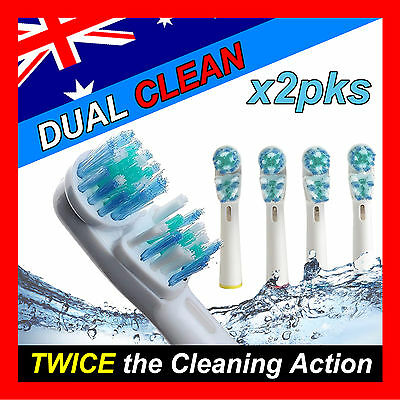 AU10.99 • Buy Dual Clean Oral B Compatible Electric Toothbrush Replacement Brush Heads X8pcs