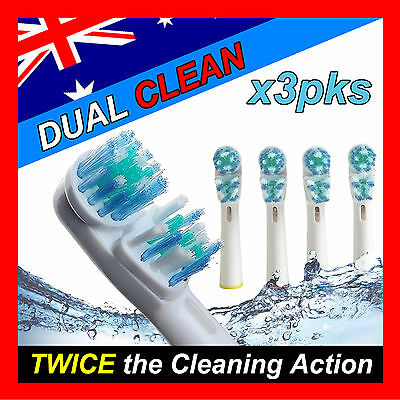 AU15.99 • Buy Dual Clean Oral B Compatible Electric Toothbrush Replacement Brush Heads X12pcs