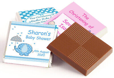 £8.75 • Buy 50 Personalised Chocolate Favours Christening, Baby Shower, New Baby