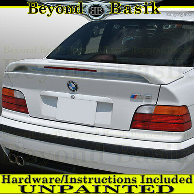$146.99 • Buy 1992-1998 BMW 3 Series E36 Factory M3 Style Spoiler Wing W/LED UNPAINTED