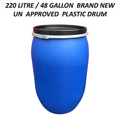 220 Litre Un Plastic Drum/barrel/container Shipping/waste/feed/water/food Grade • 49.99£