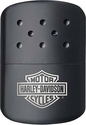 Zippo Black Harley Davidson Hand Warmer With Cloth Pouch, 40319, New In Box • 18.11$