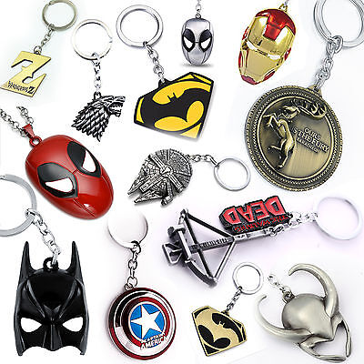 Metal Keychain Keyring Marvel Star Wars Game Of Thrones TV Movie Key Ring Chain  • 5.85£