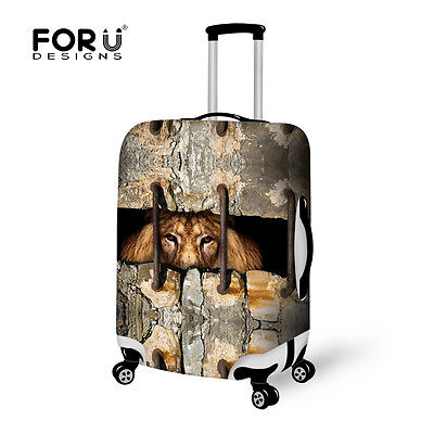 Animal Print Travel Luggage Cover Suitcase Protector Zipper Closure High Stretch • 20.99£