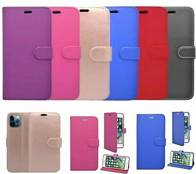 £2.97 • Buy Premium Quality Flip Leather Case Card Slot Stand Cover For All Samsung & IPhone