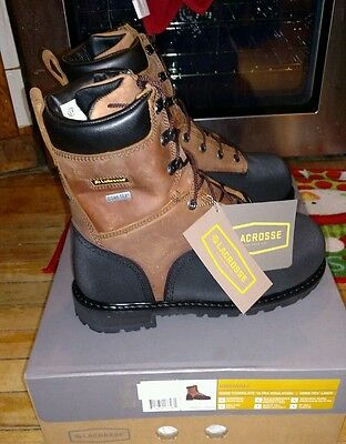 LaCrosse HIGHWALL 8  1000g Safety Toe Met Guard 00552089 NEW Size 7 WIDE • 28.94£