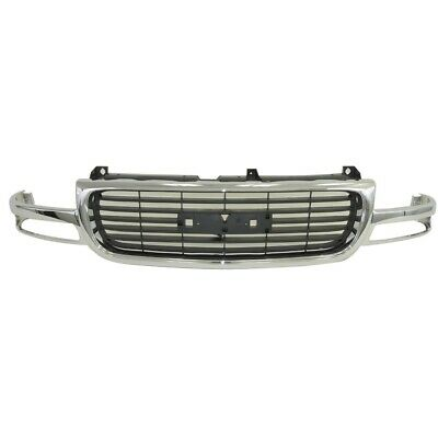 $200.67 • Buy AM Chrome Grille Black Trim For 00-05 06 Yukon 1500 2500 99-02 Sierra W/o Denali