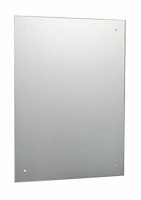 £19.95 • Buy 60 X 45cm Frameless Bathroom Mirror Pre Drilled Holes & Wall Hanging Fixings