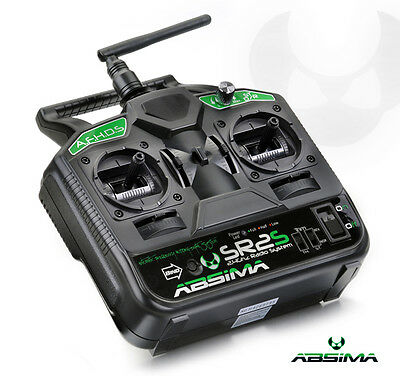 Absima 2 Channel Stick Radio System Transmitter & Receiver SR2S AFHDS 2.4GHz RC • 43.99£