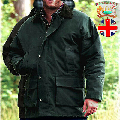 £26.99 • Buy Waxberry Mens Cotton Wax Jacket Padded Hood Country Coat Hunting Riding Fishing