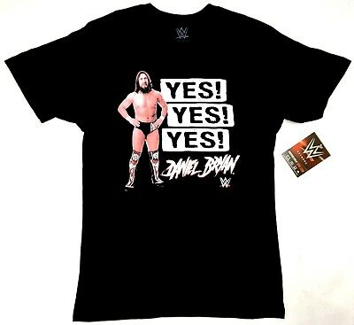 WWE Wrestling SmackDown DANIEL BRYAN YES! YES! YES! T-Shirt NWT Licensed • 12£