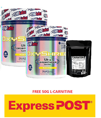 AU117 • Buy Ehp Labs Oxyshred Thermogenic  Weight Loss Fat Burning Ehplabs Oxy Twin Pack