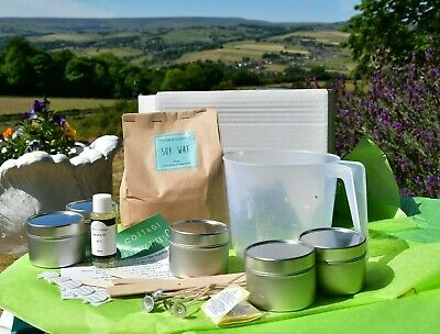 £14.99 • Buy   Soy Candle  And Wax Melt  Kits With FREE Pack Scented Simmering Granules