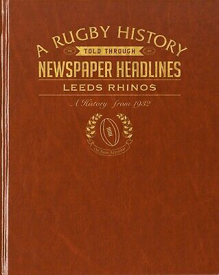 Personalised Leeds Rhinos Rugby League Club Newspaper Book Memorabilia Gift • 39.99£