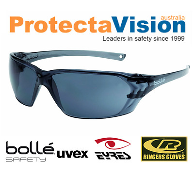 AU29.89 • Buy 2x Pairs Bolle Safety Glasses - Prism - Smoke Lens Sunglasses