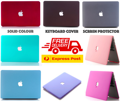 AU25.99 • Buy Solid Colour Rubberised Hard Case +Keyboard+Screen Cover MacBook Air Pro 13 Inch