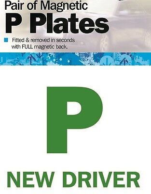 Streetwize Pair Of Fully Magnetic Car Vehicle Just Passed New Driver P Plates • 2.99£
