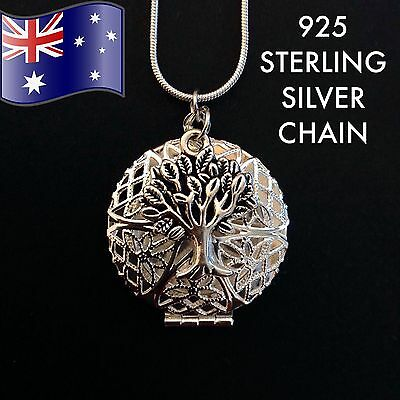 AU9.50 • Buy Tree Of Life Oil Diffuser Pendant 925 Sterling Silver Chain Necklace + FREE Pads