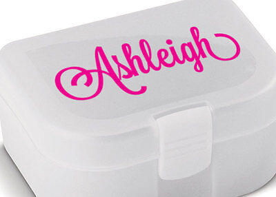 AU3.99 • Buy Personalised Lunch Box Bottle Name Sticker Label Custom Tupperware Decal